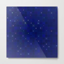 Midnight Moon and Stars Abstract Metal Print