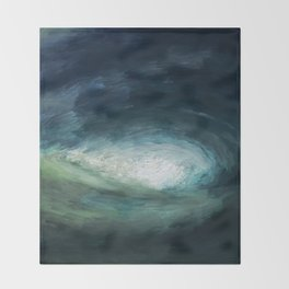 A Wild Wave - Storm Throw Blanket