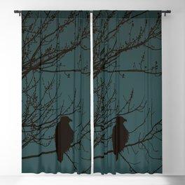 Bald Eagle Silhouette Blackout Curtain