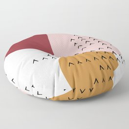 Big Shapes / Mountains Floor Pillow