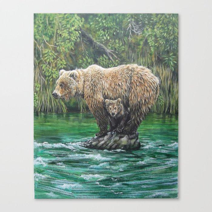 Bear Today, Gone Tomorrow? Canvas Print