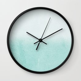 FADING AQUA Wall Clock