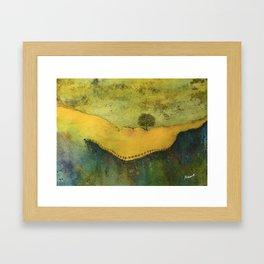 The cliff 2 Framed Art Print