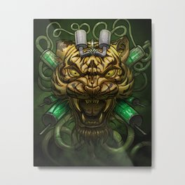 Acid Tiger Metal Print