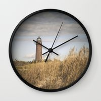 lighthouse Wall Clocks featuring Lighthouse  by Maria Heyens