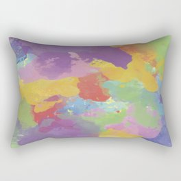 Watercolor Splatter Rectangular Pillow