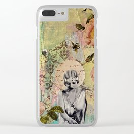 Waiting For Her Moment Clear iPhone Case