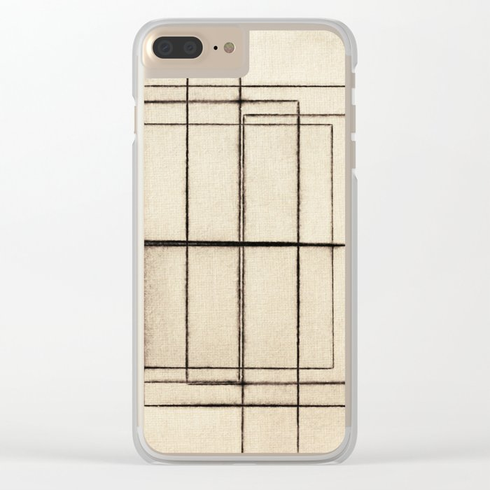 Toner Lines on Paper Clear iPhone Case