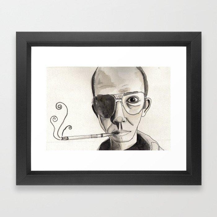 Hunter Thompson  Framed Art Print