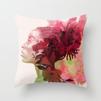passion Throw Pillows featuring Passion by Magenda