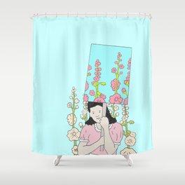 Pro-Hollyhock Shower Curtain