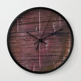 Dark striped Wall Clock