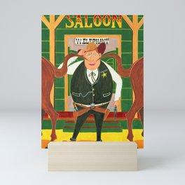 Twin tale & The Sheriff Mini Art Print