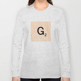 Scrabble Letter G - Scrabble Art and Apparel Long Sleeve T-shirt
