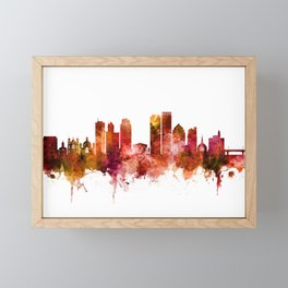 Dayton Ohio Skyline Framed Mini Art Print