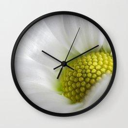 Makro_weiße_Blüten_1 Wall Clock