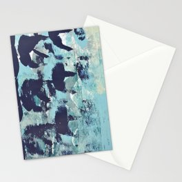 012.4 a bright contemporary abstract piece in teal and lavender by Alyssa Hamilton Art  Stationery Cards