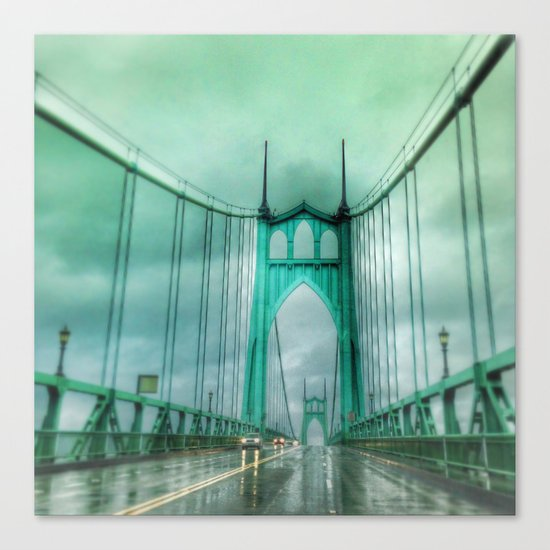 St John's Bridge Portland Oregon Canvas Print