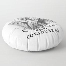Curiouser and curiouser Floor Pillow