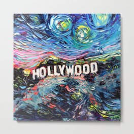 van Gogh Never Saw Hollywood Metal Print