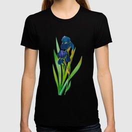 Purple Iris, Iris, Iris Germanica, Iris Germanique, by Antique Print Pierre Joseph Redoute, Plate 309, Super Sharp PNG T-shirt