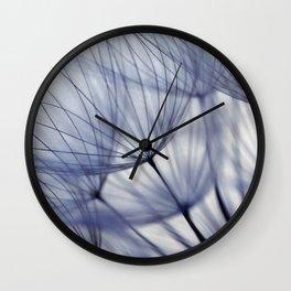 Dandelion In Blue No.2 Wall Clock