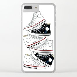 Sneakers black and white Clear iPhone Case