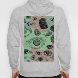 Vintage Eyeball Abstract Blob Background  Hoody