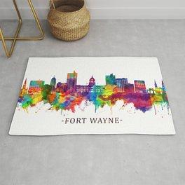 Fort Wayne Indiana Skyline Rug