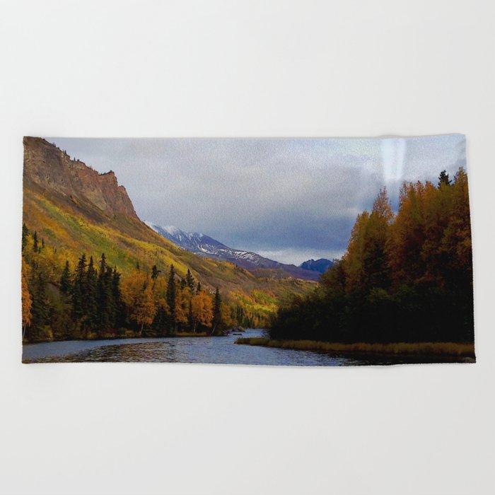 Matanuska River Alaska Beach Towel