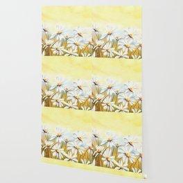 Daisies Watercolor Wallpaper