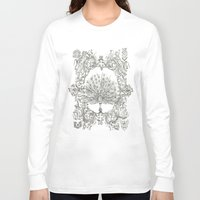 military Long Sleeve T-shirts featuring Military Peacock by Vicki Jones