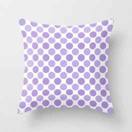 Modern trendy lavender lilac hipster polka dots Throw Pillow