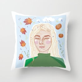"""""""Falling"""" For You Throw Pillow"""