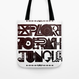Explore The Typographic Jungle Tote Bag