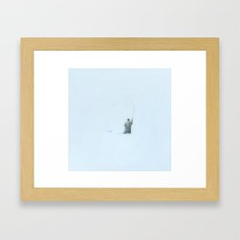 Flyfishing: Solitude Framed Art Print