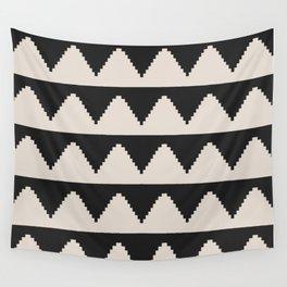Geometric Pyramid Pattern - Black Wall Tapestry