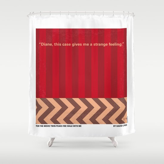 No169 My Twin Peaks minimal movie poster Shower Curtain