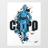 Star wars C3PO Art Print