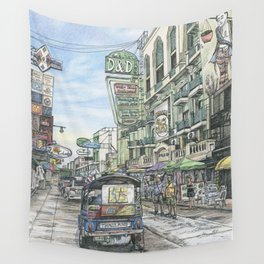 One day in Bangkok Wall Tapestry