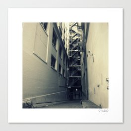 Industrial Alley in Spain Canvas Print