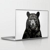 selena gomez Laptop & iPad Skins featuring Bear by Sebastian Gomez de la Torre
