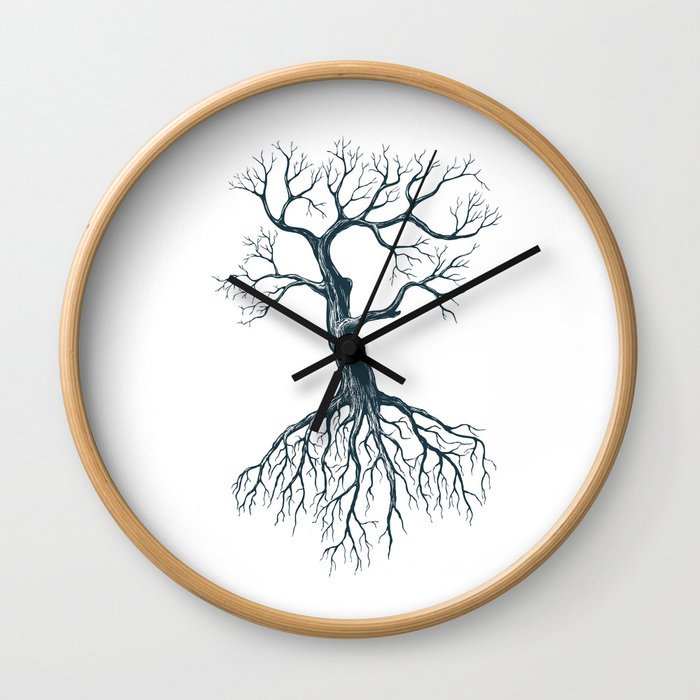 Tree without leaves Wall Clock