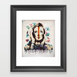 Drips of color Framed Art Print