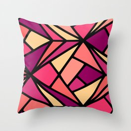 Mod Coral Geo Throw Pillow