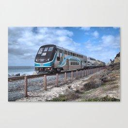 METROLINK TRAIN. SAN CLEMENTE, CALIFORNIA. © 2014 J. Montague. Canvas Print