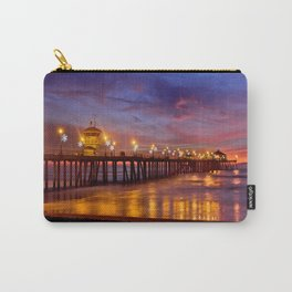 HB Sunsets  ~ Sunset At The Huntington Beach Pier  12/8/15 Carry-All Pouch