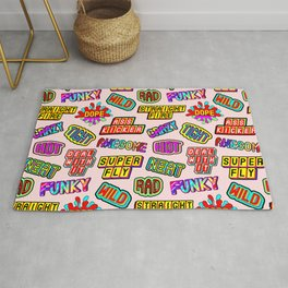 Funky pattern #08 (dope, straight fire, funky, hot, deal with it, crazy, awesome, etc) Rug