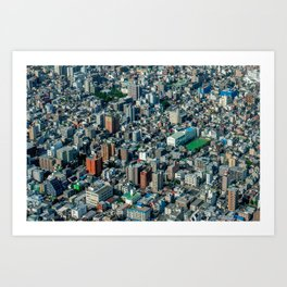 Tokyo like a 3D-isometric game Art Print