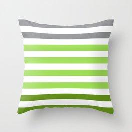 Stripes Gradient - Green Throw Pillow